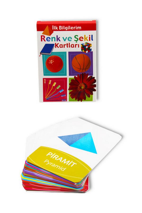 Renk ve Şekil Bak Öğren Kartları - İlk Bilgilerim 0-3 Yaş