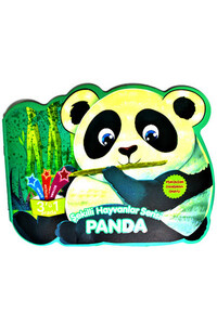 Parıltı Yayınları - Şekilli Hayvanlar Serisi - Panda - Parıltı Yayınları