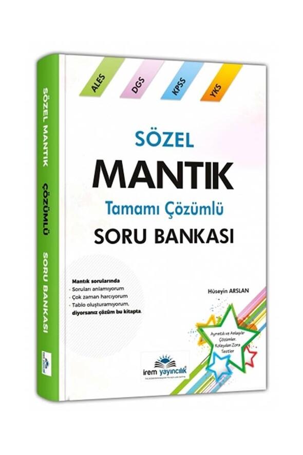 Sözel Mantık Tamamı Çözümlü Soru Bankası İrem Yayıncılık