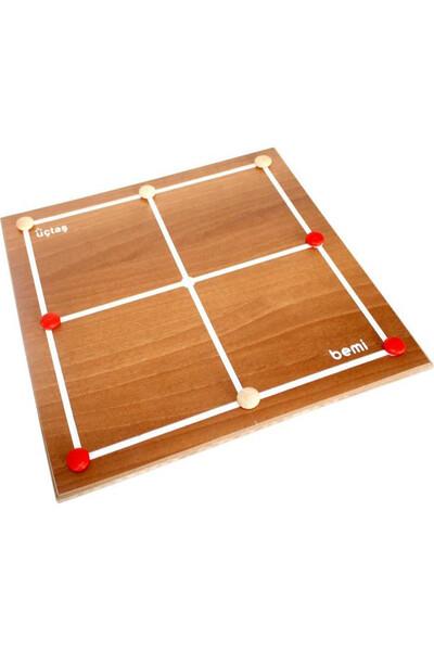 Üçtaş Dokuztaş Zeka ve Strateji Oyunu - Bemi