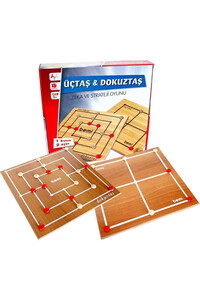 Üçtaş Dokuztaş Zeka ve Strateji Oyunu - Bemi - Thumbnail
