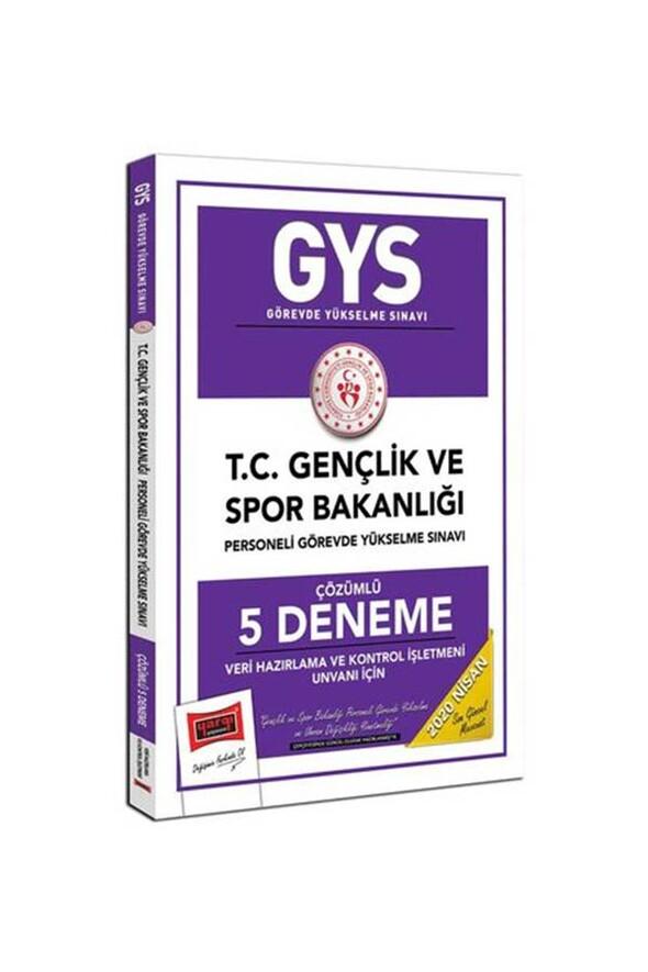Yargı Yayınları 2020 GYS T.C. Gençlik ve Spor Bakanlığı Veri Hazırlama ve Kontrol İşletmeni Unvanı İçin Çözümlü 5 Deneme