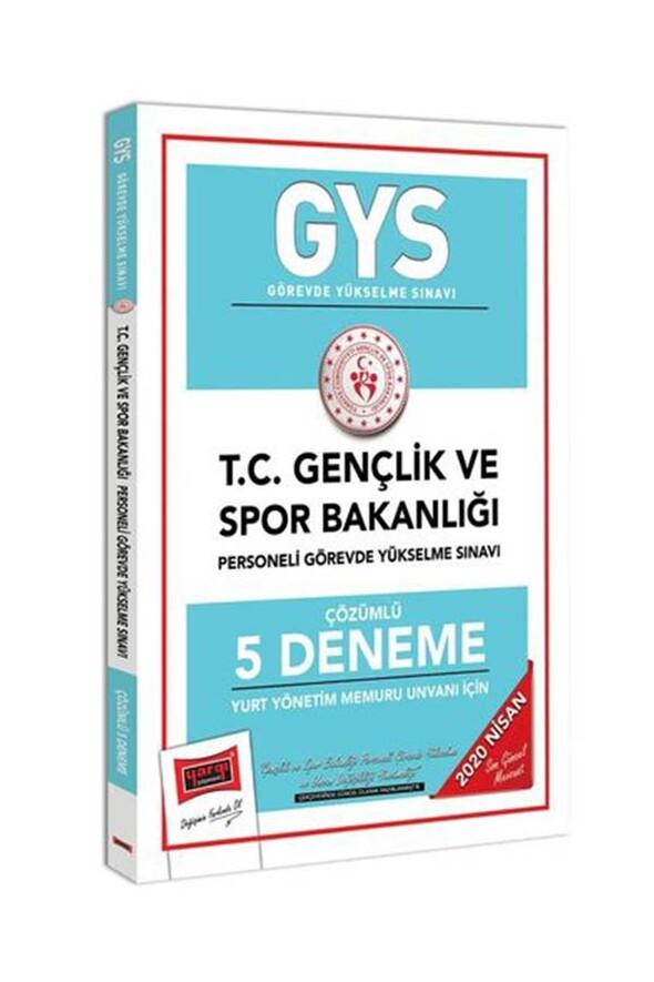Yargı Yayınları 2020 GYS T.C. Gençlik ve Spor Bakanlığı Yurt Yönetim Memuru Unvanı İçin Çözümlü 5 Deneme