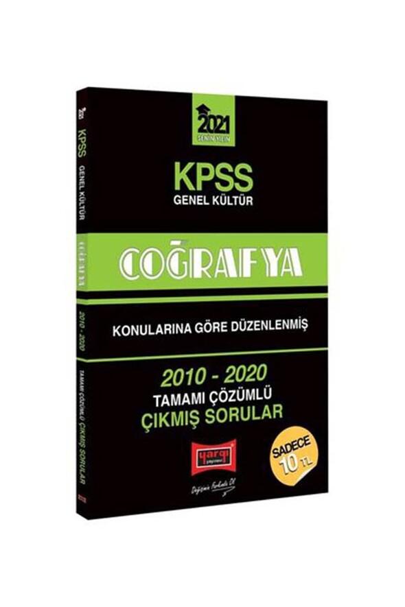 Yargı Yayınları 2021 KPSS Coğrafya Konularına Göre Düzenlenmiş Tamamı Çözümlü Çıkmış Sorular