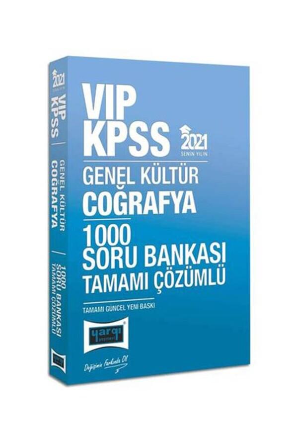 Yargı Yayınları 2021 KPSS VIP Coğrafya Tamamı Çözümlü 1000 Soru Bankası