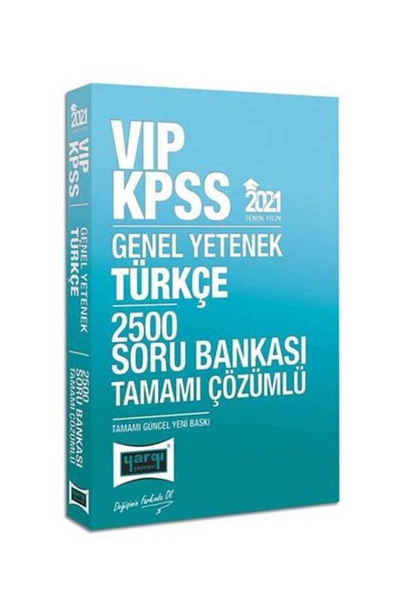 Yargı Yayınları 2021 KPSS VIP Türkçe Tamamı Çözümlü 2500 Soru Bankası