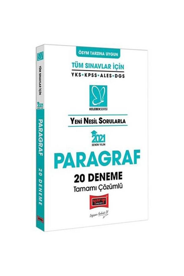 Yargı Yayınları 2021 Tüm Sınavlar İçin Paragraf Tamamı Çözümlü 20 Deneme