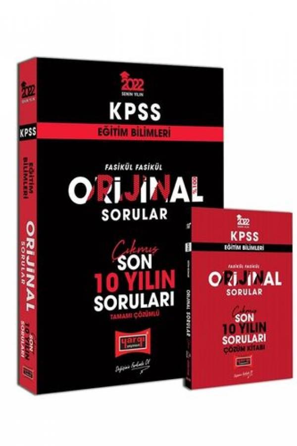 Yargı Yayınları 2022 KPSS Eğitim Bilimleri Fasikül Fasikül Orijinal Sorular Tamamı Çözümlü Son 10 Yılın Çıkmış Soruları
