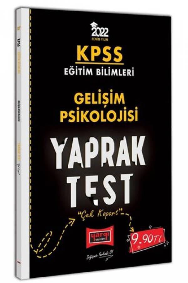 Yargı Yayınları 2022 KPSS Eğitim Bilimleri Gelişim Psikolojisi Yaprak Test