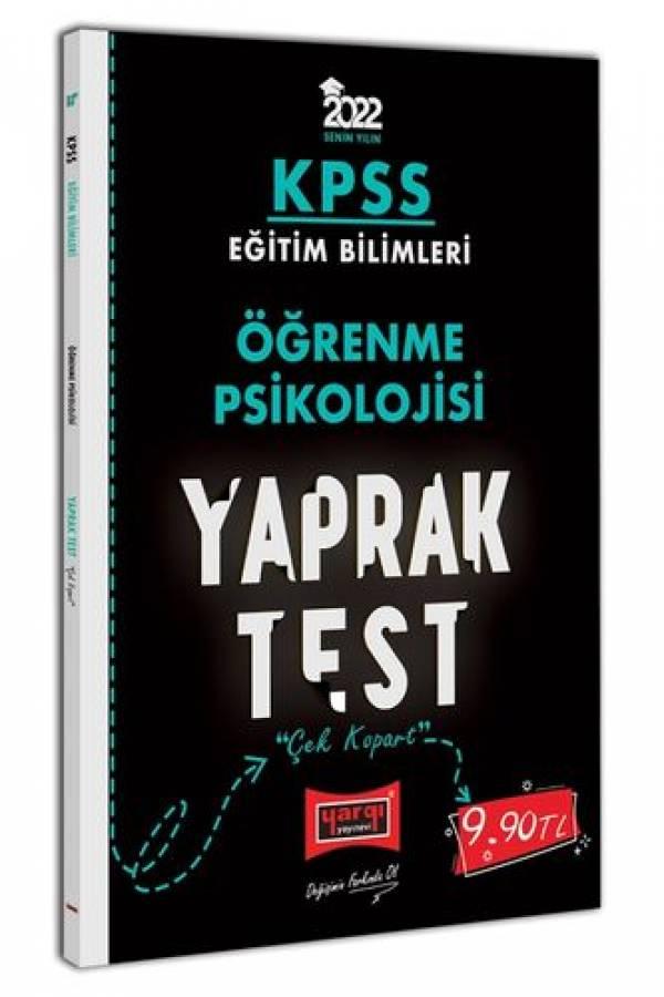 Yargı Yayınları 2022 KPSS Eğitim Bilimleri Öğrenme Psikolojisi Yaprak Test
