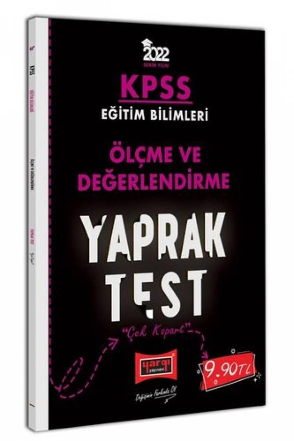 Yargı Yayınları 2022 KPSS Eğitim Bilimleri Ölçme ve Değerlendirme Yaprak Test