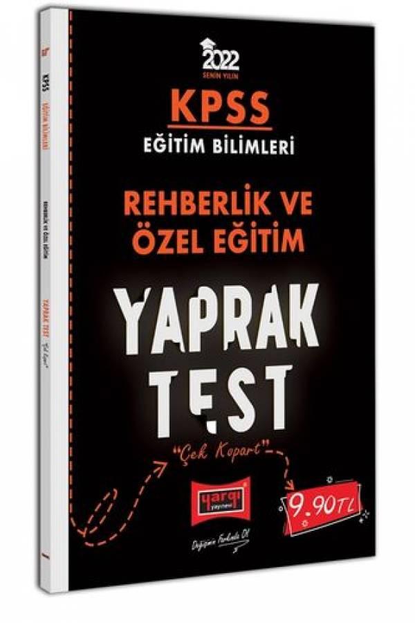 Yargı Yayınları 2022 KPSS Eğitim Bilimleri Rehberlik ve Özel Eğitim Yaprak Test