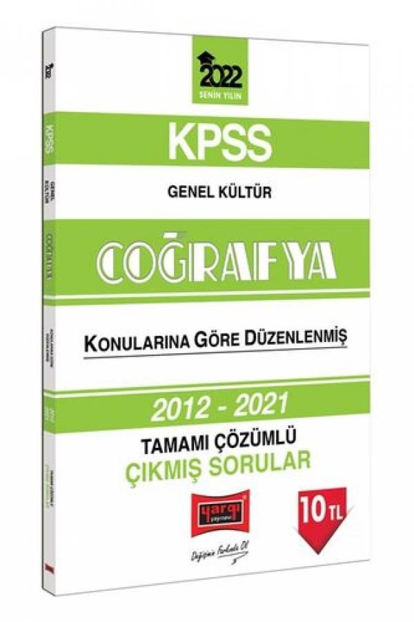 Yargı Yayınları 2022 KPSS Genel Kültür Coğrafya Tamamı Çözümlü Çıkmış Sorular