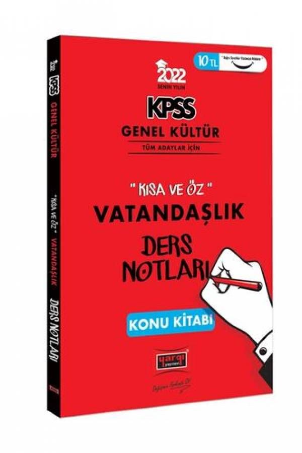 Yargı Yayınları 2022 KPSS Genel Kültür Kısa ve Öz Vatandaşlık Ders Notları Konu Kitabı