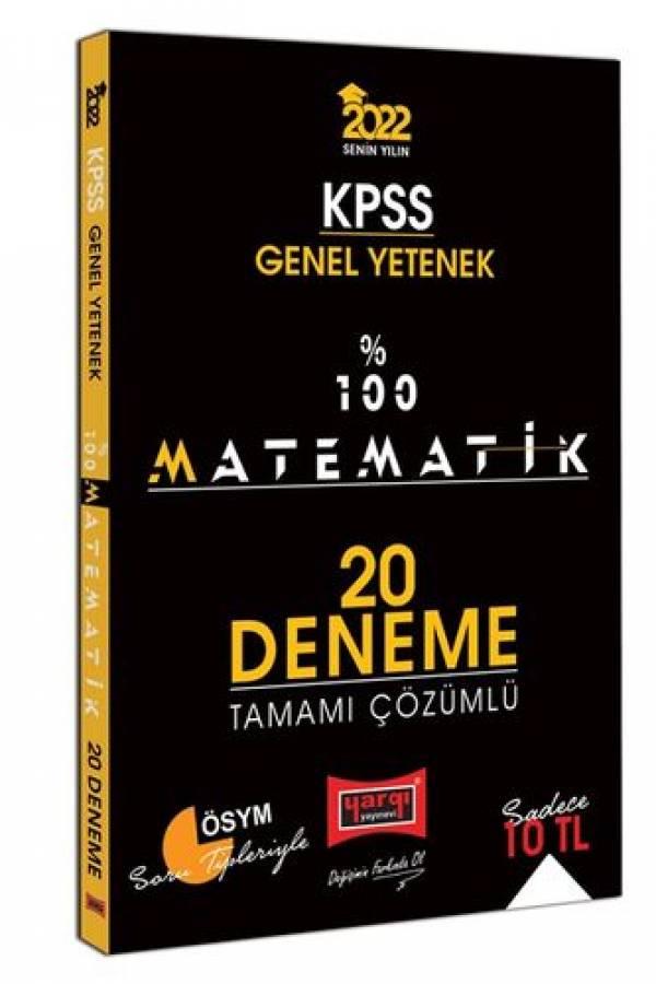 Yargı Yayınları 2022 KPSS Genel Yetenek %100 Matematik Tamamı Çözümlü 20 Deneme