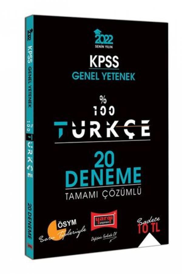 Yargı Yayınları 2022 KPSS Genel Yetenek %100 Türkçe Tamamı Çözümlü 20 Deneme
