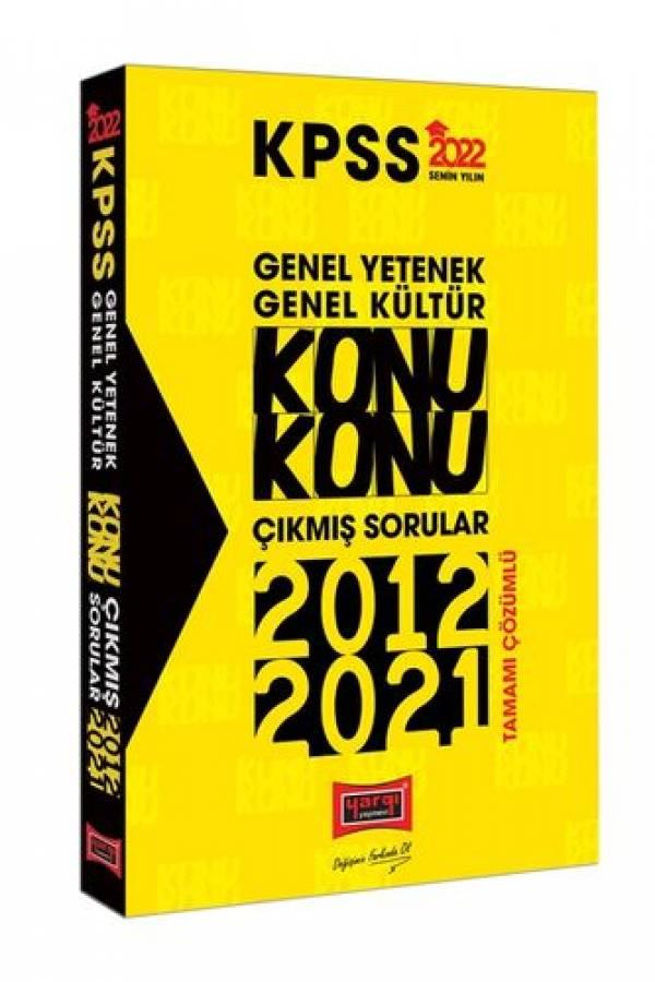 Yargı Yayınları 2022 KPSS Genel Yetenek Genel Kültür Konu Konu Tamamı Çözümlü Çıkmış Sorular