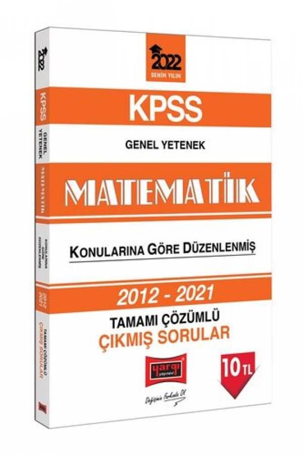 Yargı Yayınları 2022 KPSS Genel Yetenek Matematik Tamamı Çözümlü Çıkmış Sorular
