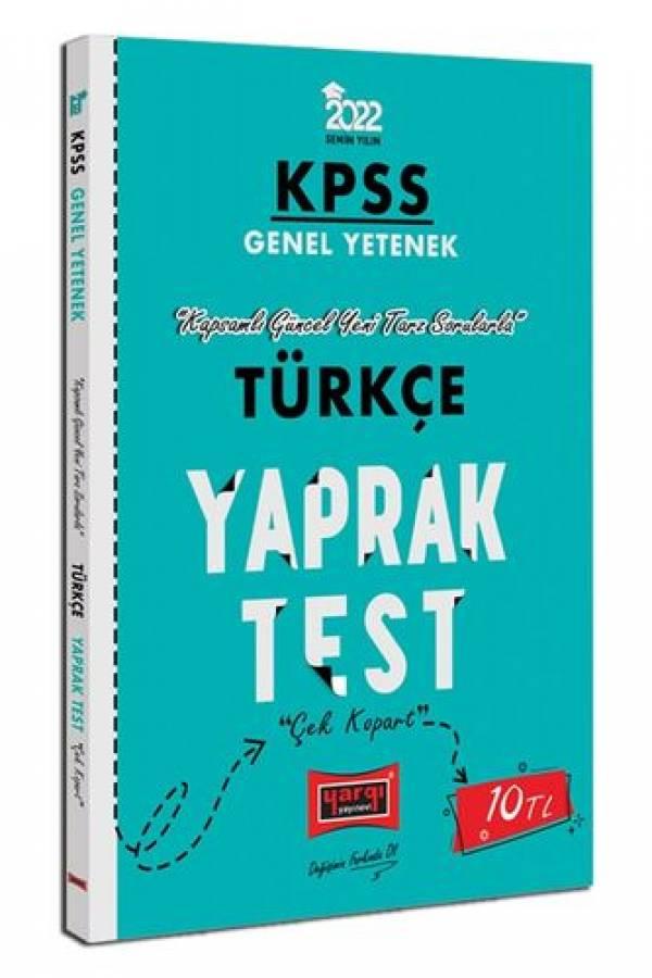 Yargı Yayınları 2022 KPSS Lisans GY Türkçe Yaprak Test