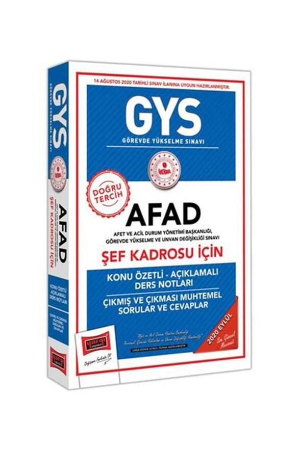 Yargı Yayınları GYS AFAD Şef Kadrosu İçin Konu Özetli Çıkmış ve Çıkması Muhtemel Sorular