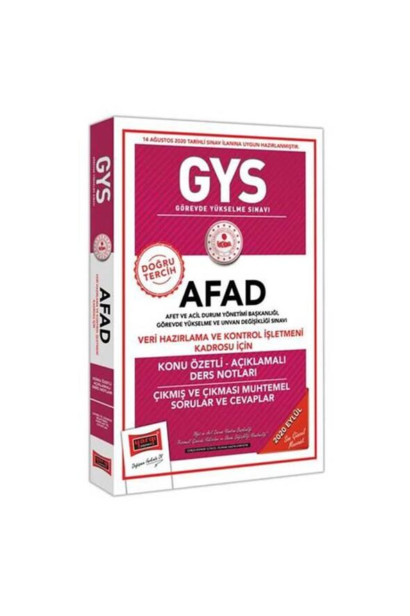 Yargı Yayınları GYS AFAD Veri Hazırlama ve Kontrol İşletmeni Kadrosu İçin Konu Özetli Çıkmış ve Çıkması Muhtemel Sorular