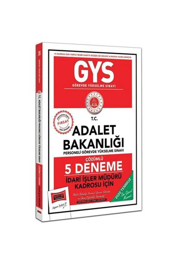 Yargı Yayınları GYS T.C. Adalet Bakanlığı İdari İşler Müdürü Kadrosu İçin Çözümlü 5 Deneme