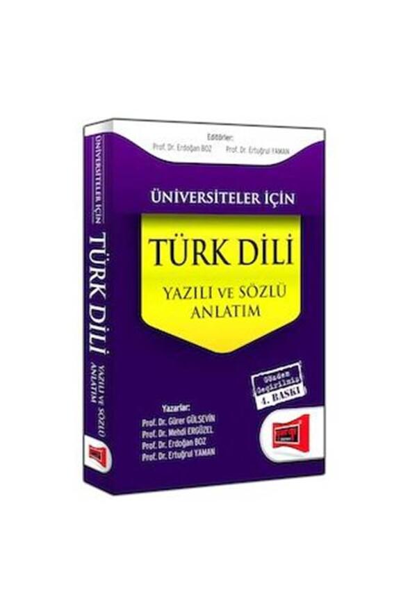 Yargı Yayınları Üniversiteler İçin Türk Dili - Sözlü ve Yazılı Anlatım Yargı Yayınları