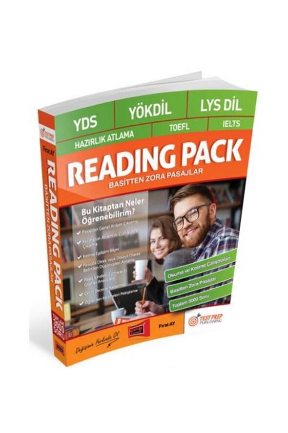Yargı Yayınları YDS-YÖKDİL-LYS DİL-Hazırlık Atlama-TOEFL-IELTS Reading Pack Basitten Zora Pasajlar