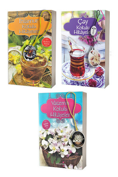 Yasemin, Ihlamur ve Çay Kokulu Hikayeler - 3 Adet Kokulu Kitap