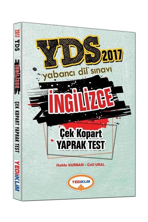 YDS İngilizce Çek Kopart Yaprak Test Yediiklim Yayınları