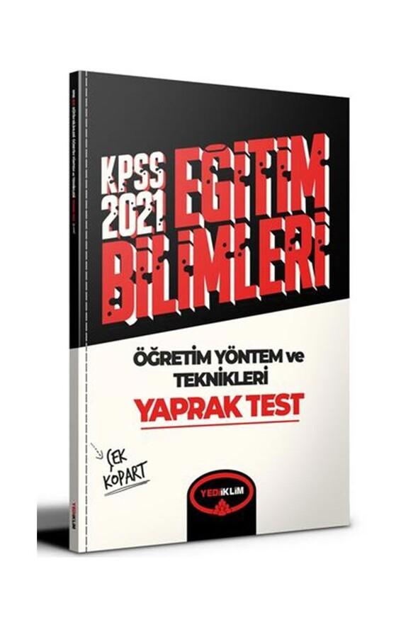 Yediiklim Yayınları 2021 Kpss Eğitim Bilimleri Öğretim Yöntem ve Teknikleri Çek Kopart Yaprak Test