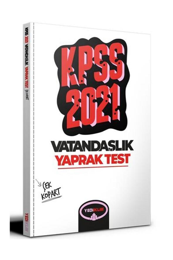 Yediiklim Yayınları2021 KPSS Genel Kültür Vatandaşlık Çek Kopart Yaprak Test