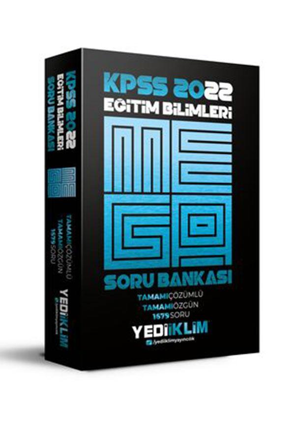Yediiklim Yayınları 2022 KPSS Eğitim Bilimleri Mega Tamamı Çözümlü Soru Bankası