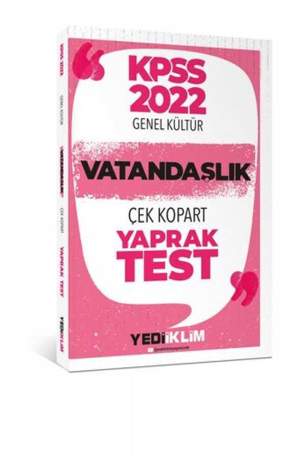 Yediiklim Yayınları 2022 KPSSLisansGenel KültürVatandaşlık Çek Kopart Yaprak Test