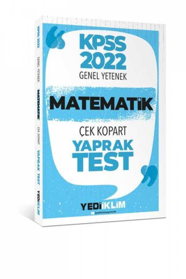 Yediiklim Yayınları 2022 KPSSLisans Genel Yetenek Matematik Çek Kopart Yaprak Test