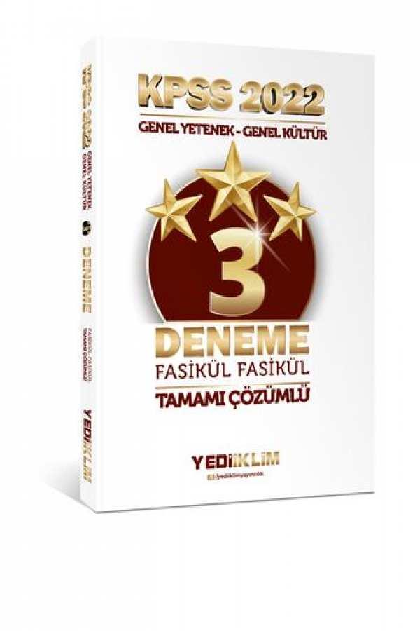 Yediiklim Yayınları 2022 KPSS Lisans GY-GK Tamamı Çözümlü Fasikül 3 Yıldız Deneme