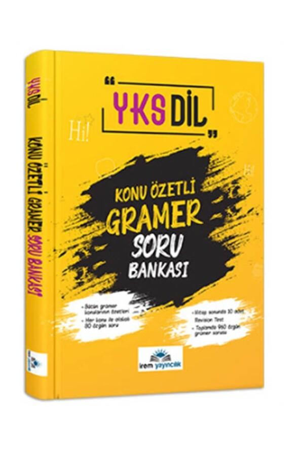 YKS Dil Konu Özetli Gramer Soru Bankası İrem Yayıncılık