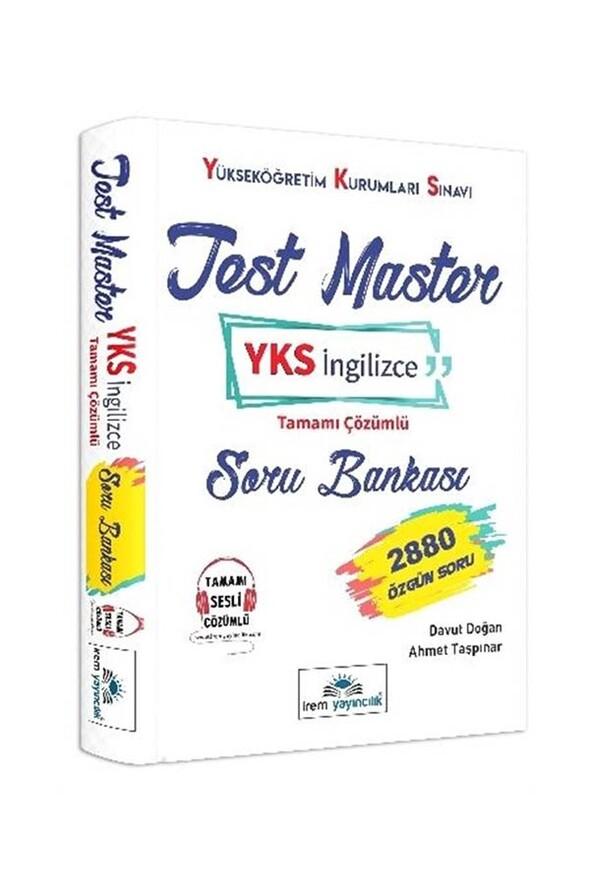 YKS Test Master İngilizce Tamamı Çözümlü Soru Bankası İrem Yayıncılık